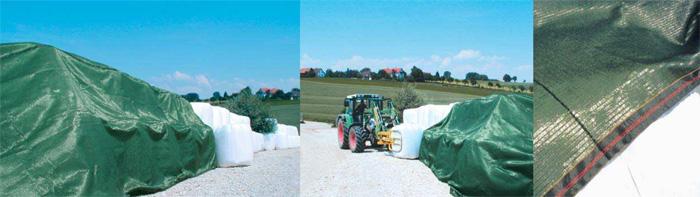 Anwendung von Ballenschutznetzen in der freien Landschaft