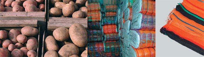 Raschelsäcke für Kartoffeln und Gemüse